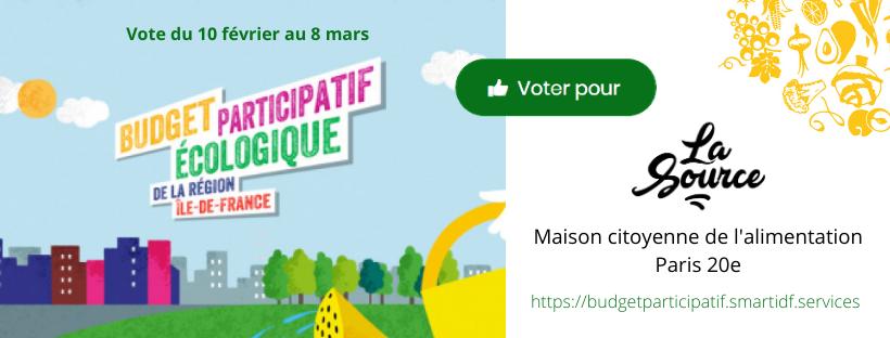 Votez pour La Source au budget participatif du Conseil régional d'Île-de-France